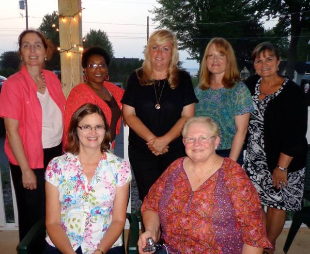 Jefferson County AAUW members post with Ellen Marie Wiseman.