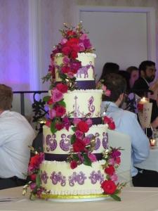 Henna wedding cake 1