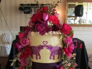 Henna wedding cake top tier