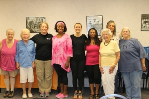 AAUW Jefferson County Branch members with Yoga instructor Clancy Cox.