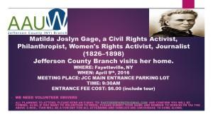 AAUW-Visits Matilda Joslyn Gage's Home