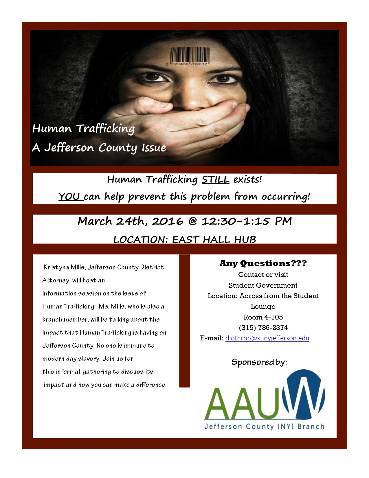 Human Trafficking in Jefferson County | AAUW Jefferson