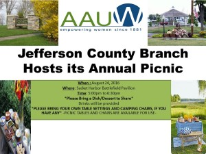 AAUW-Jefferson County Branch Picnic-August-2016
